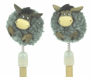 5004P Pencils Pom Pom - Donkeys  (Pack Size 36)